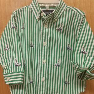 Ralph Lauren Shirt w/ Embroidered Sailboats